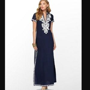 Sea Island Linen Maxi Dress Size Small